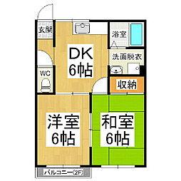 タウニィK1・2[2階]の間取り