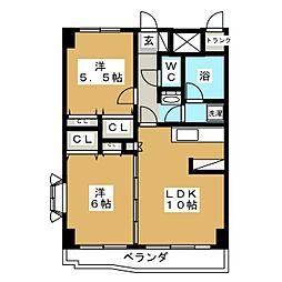 エクセルフラッツ[4階]の間取り
