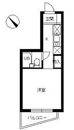 東京都文京区弥生2丁目の賃貸マンションの間取り