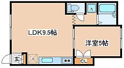 兵庫県神戸市長田区花山町2丁目の賃貸アパートの間取り