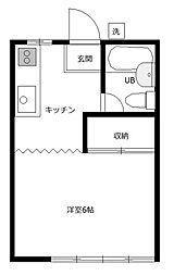 八光荘B[1階]の間取り
