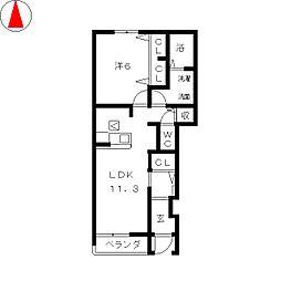 ベル・コリーヌA[1階]の間取り