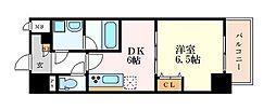 名古屋市営桜通線 高岳駅 徒歩6分の賃貸マンション 10階1DKの間取り