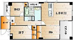いわきマンション井堀[8階]の間取り