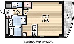 DIT COART 3階ワンルームの間取り