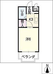 シェシェール88[3階]の間取り
