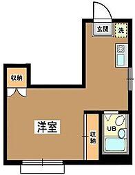 東京都世田谷区三軒茶屋1丁目の賃貸マンションの間取り