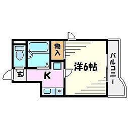 ユニテック甲子園[3階]の間取り
