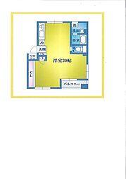 神奈川県横浜市磯子区磯子3丁目の賃貸マンションの間取り