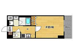 分譲ベラジオ京都洛南II[403号室]の間取り