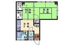 広島県呉市東中央3丁目の賃貸アパートの間取り