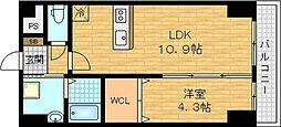 京阪本線 千林駅 徒歩4分の賃貸マンション 1階1LDKの間取り