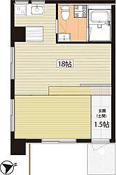 北前野コーポ[105号室]の間取り