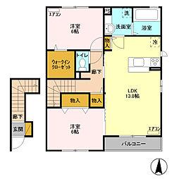シャティグレ 弐番館[2階]の間取り