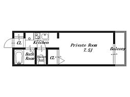 アパートメント畝傍[1階]の間取り