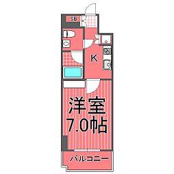 ヘイマン横浜[8階]の間取り
