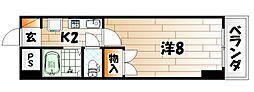 グランドール富士見[6階]の間取り