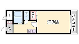 HU岩屋ハイツ[2階]の間取り