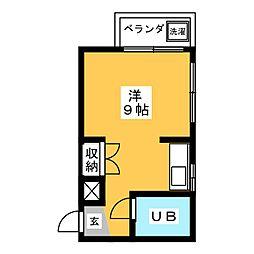 シングルハイツ八事[2階]の間取り