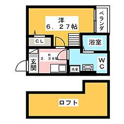 ビルーチェ B棟[1階]の間取り