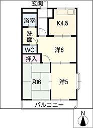 WOOD PARK[2階]の間取り