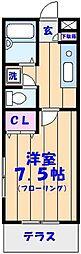 ラスティコーポ[2階]の間取り