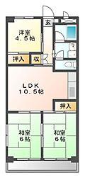 OS・SKYマンション西中島II[3階]の間取り