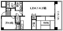 ドミール川崎[403号室]の間取り