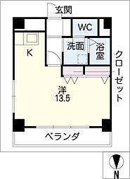名駅キクイビル[8階]の間取り