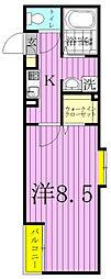 カーサミア[105号室]の間取り
