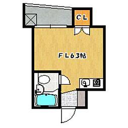 バスクコート[6階]の間取り