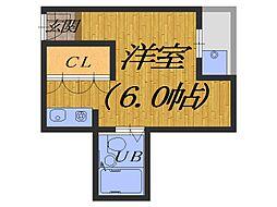 大阪府堺市堺区榎元町6丁の賃貸マンションの間取り