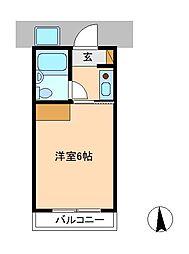 コーポヤマト[1階]の間取り