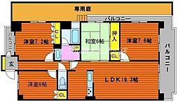 サーパス東古松第2[1階]の間取り