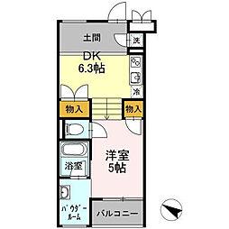 東京都目黒区緑が丘1丁目の賃貸マンションの間取り