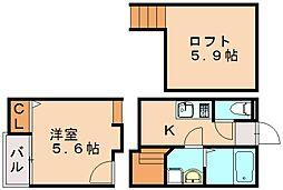 クレオ土井参番館[2階]の間取り