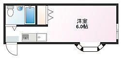 クレストコート飯山6号棟[201号室]の間取り