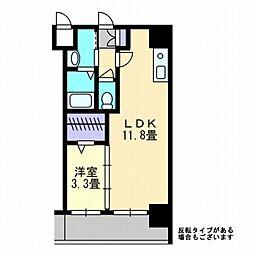 AXiS西桜町[602号室]の間取り