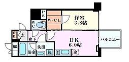 レオンコンフォート本町橋 12階1DKの間取り