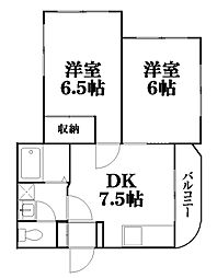 広島県東広島市西条土与丸5丁目の賃貸アパートの間取り