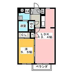 緑の家[1階]の間取り