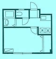 キューブ向ヶ丘II[2階]の間取り