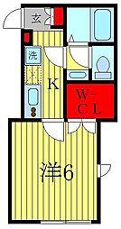 キャメル松戸大谷口II[2階]の間取り