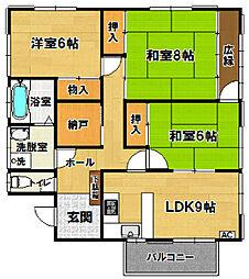 [一戸建] 茨城県土浦市西根西1丁目 の賃貸【/】の間取り