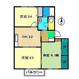 シャーメゾン21 C棟[2階]の間取り