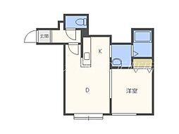 北海道札幌市東区北三十条東1丁目の賃貸アパートの間取り