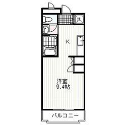 M・STAGE OHMURA[105号室]の間取り