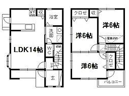 [テラスハウス] 静岡県浜松市中区蜆塚3丁目 の賃貸【/】の間取り