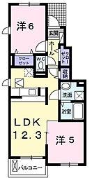 ハイ・メゾン II[1階]の間取り