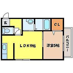 北海道札幌市北区北二十七条西9丁目の賃貸マンションの間取り